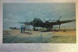 World War Two Lancaster Print 18x27 titled Flight