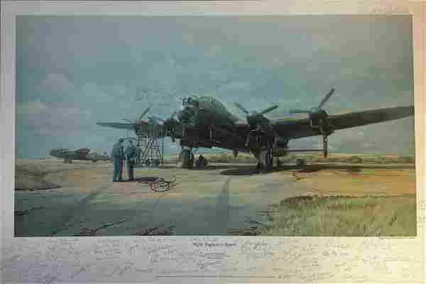 World War Two Lancaster Print 18x27 titled Flight