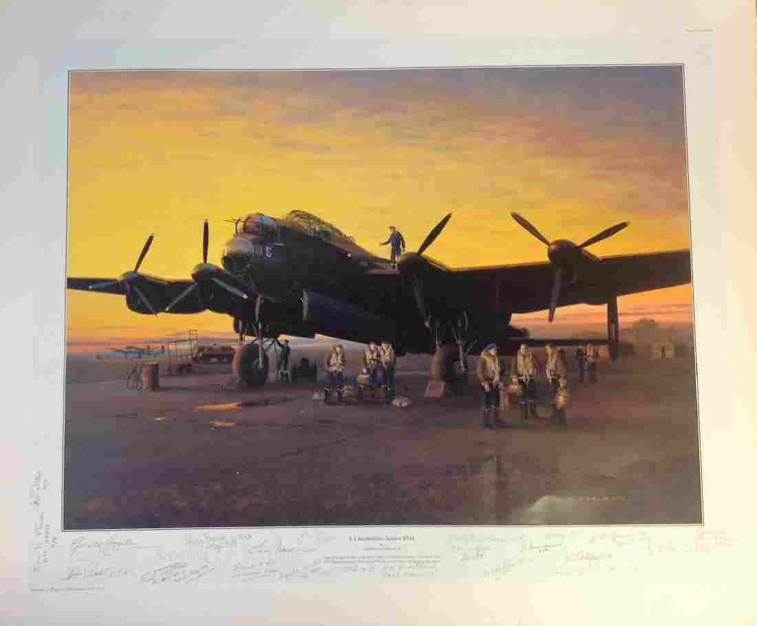 World War Two print 25x30 titled A Lincolnshire Sunset