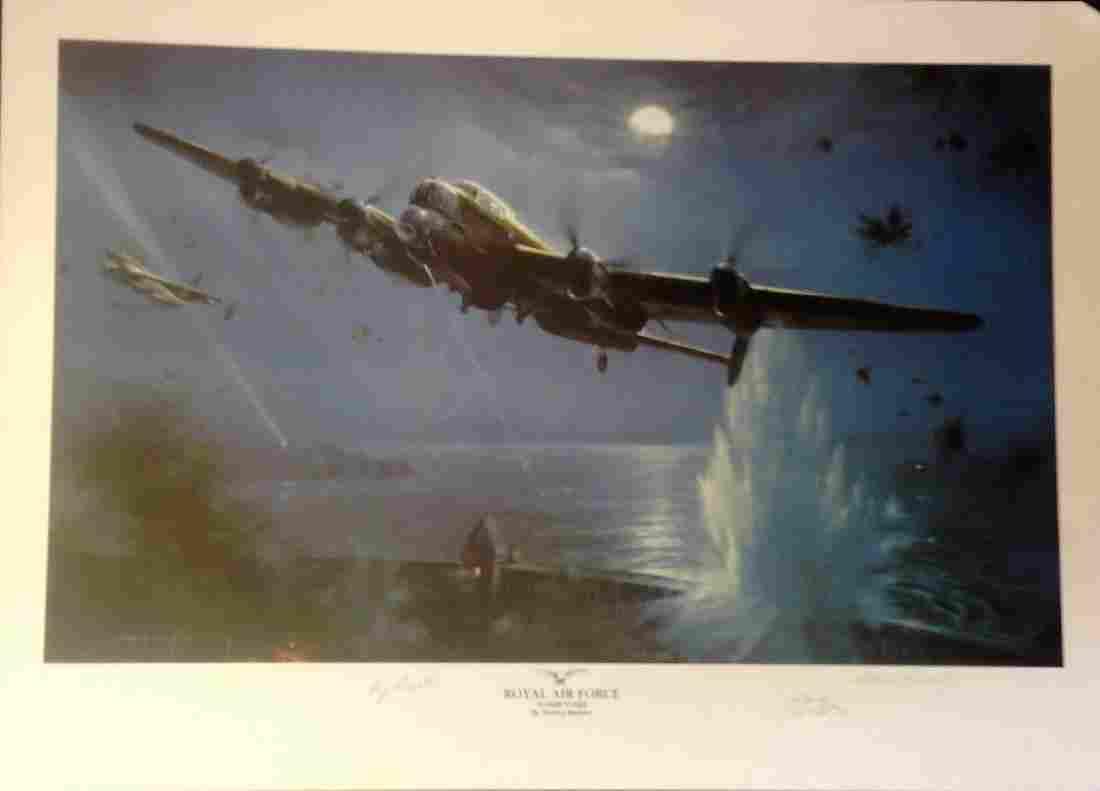 Dambusters World War Two Print 20x28 titled ROYAL AIR