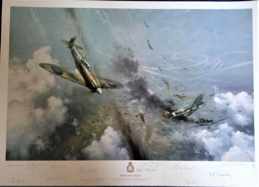 World War Two print 24x30 overall Battle over London by