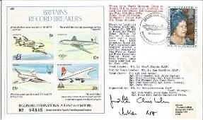 Aviation FDC 'Britain's Record Breakers' Souvenir sheet