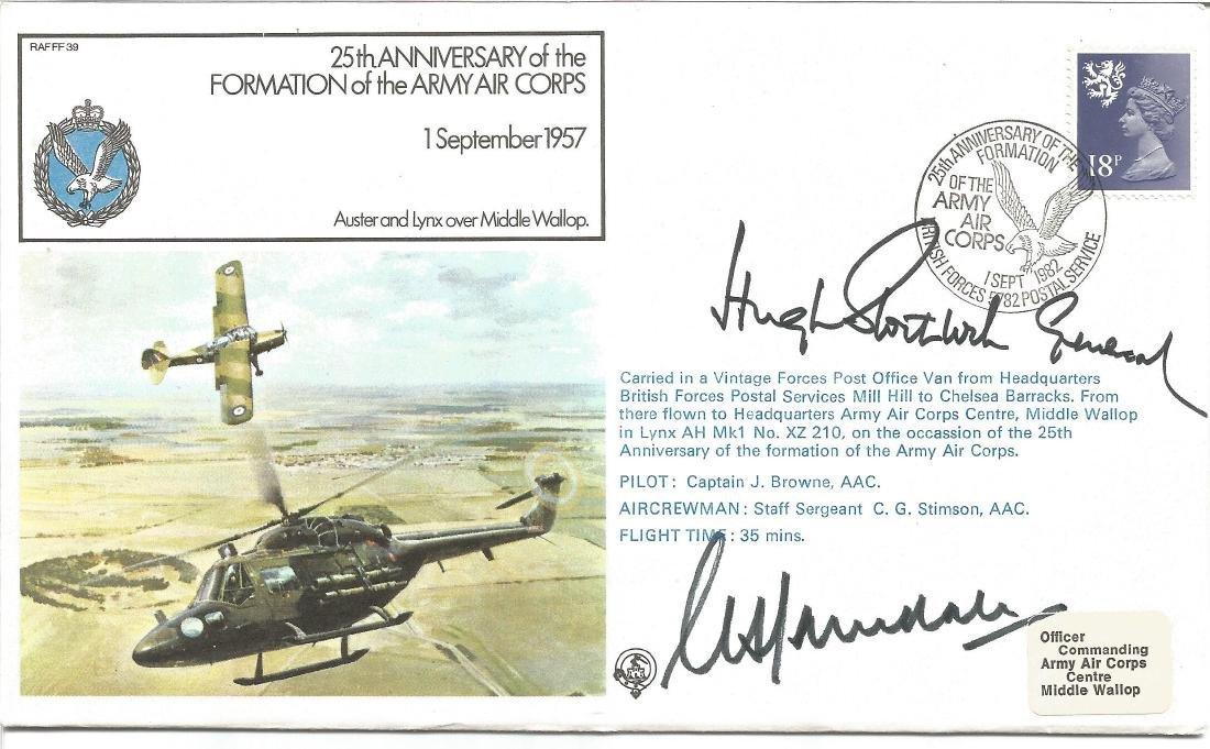 Formation of the Army Air Corps official double signed