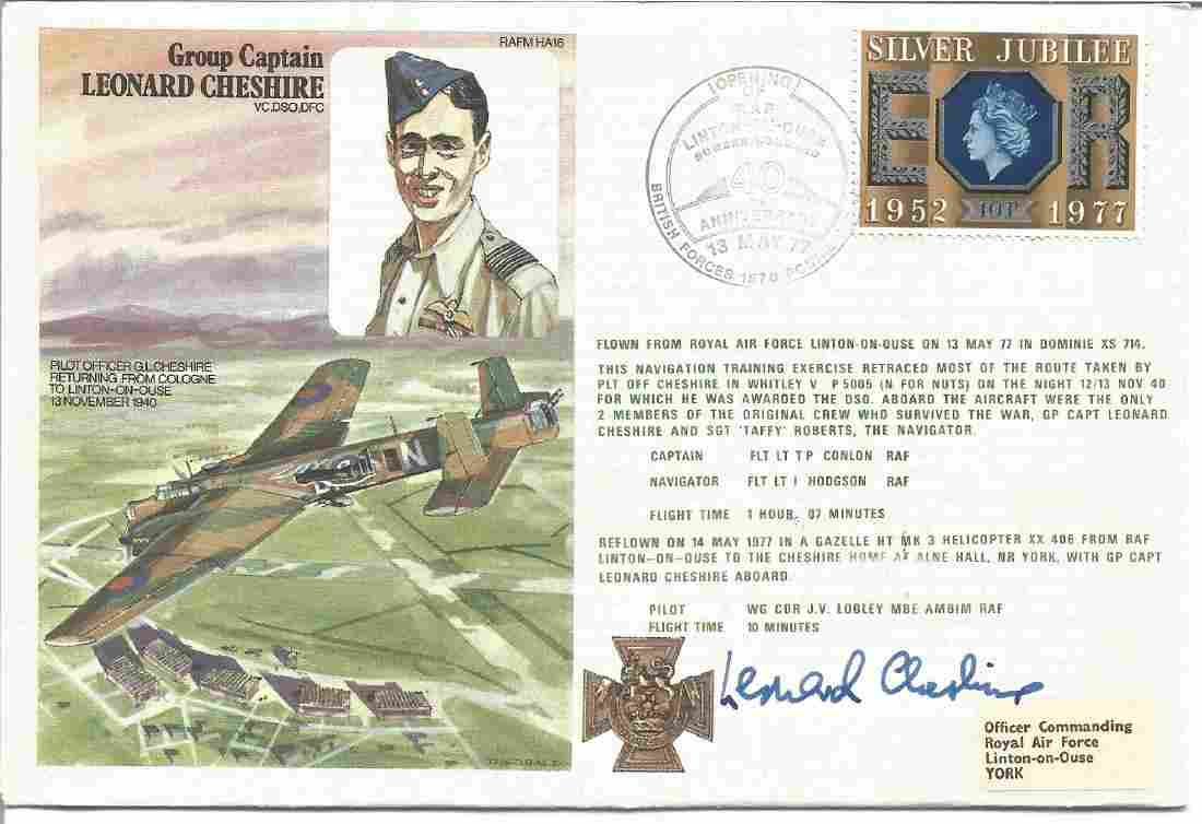 Group Captain Leonard Cheshire, VC, DSO, DFC signed
