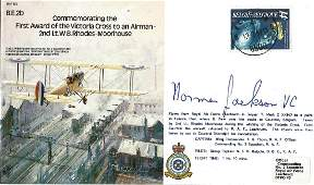 Norman Jackson VC WW2 signed Bomber Command cover Good