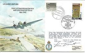 Leonard Trent VC signed 1985 WW2 Lockheed Ventura