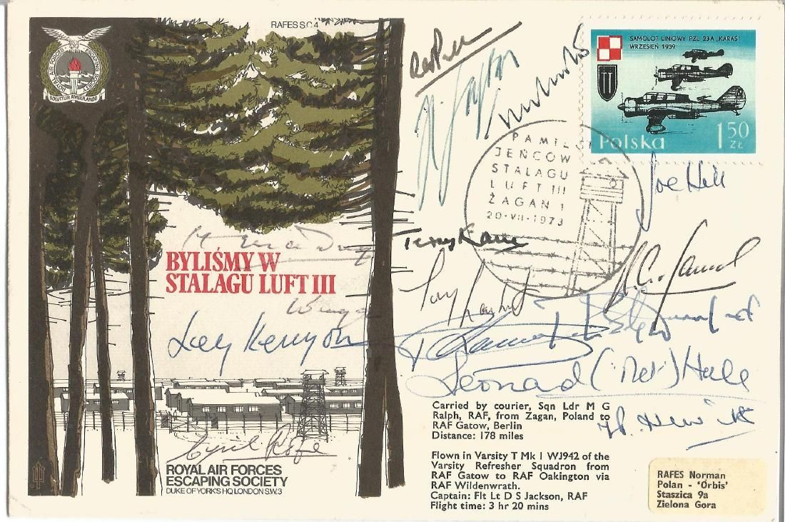 Fifteen WW2 POWS rare signed Escape from Stalag Luft