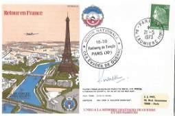 Wg Cdr Walker signed Retour En France cover RAFES SC5