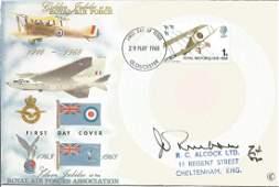 Wg Cdr John Freeborn DFC WW2 fighter ace signed 1968