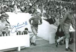 Autographed 12 X 8 Photo, Jimmy Greenhoff, A Superb