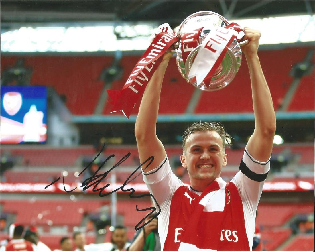 Rob Holding Signed Arsenal Fa Cup 8x10 Photo. Good