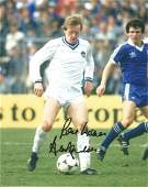 Alan Ainscow Signed Everton 8x10 Photo. Good Condition.
