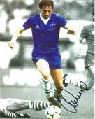 Gary Stevens Signed Everton 8x10 Photo. Good Condition.