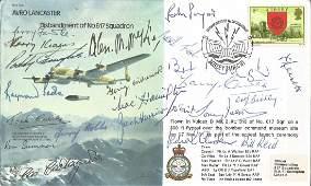 22 WW2 617 Sqn veterans inc many Tirpitz raiders signed