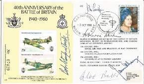 Five top WW2 aces Douglas Bader, John Cunningham,