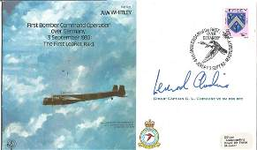 Leonard Cheshire VC signed AW Whitley RAF bomber cover