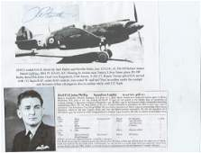 WW2 Signature of Tomahawk and Kittyhawk ace Australian
