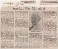 WW2 Signature and Obituary of Czech Squadron Leader