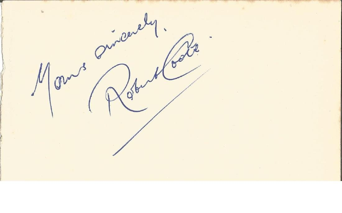 Robert Coote signed album page. Good Condition. All
