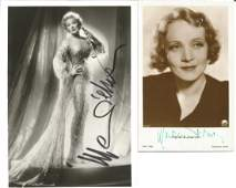 Marlene Dietrich signed vintage photo collection Good