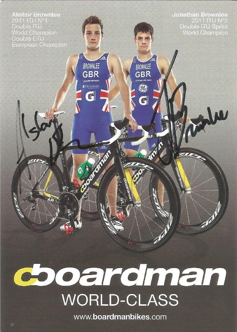 Alastair and Jonathan Brownlee signed 6x4 colour promo