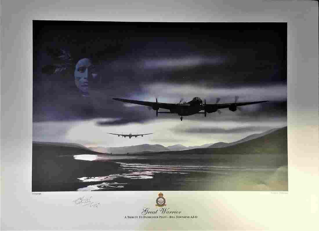 Dambuster World War Two print 24x17 titled Great