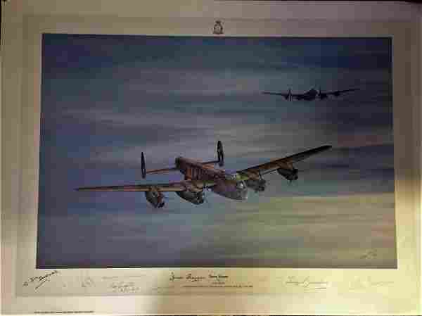 Dambuster World War Two print 19x27 titled Dawn Return