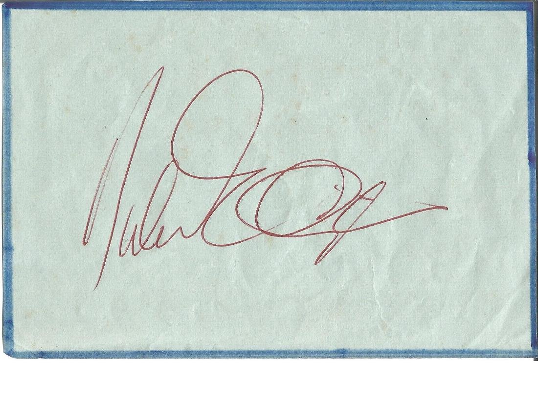 Duke Ellington signed album page. Good Condition. All
