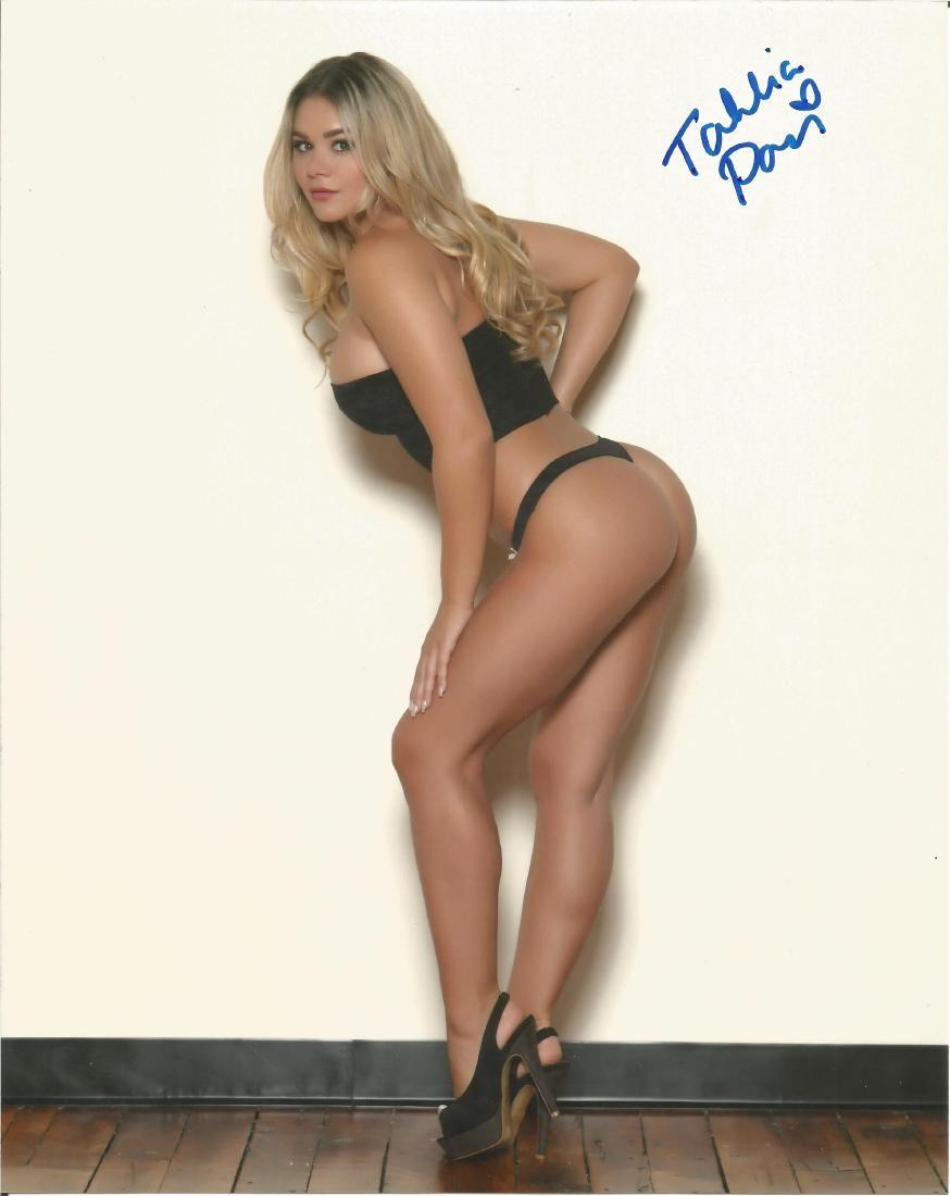 Tahlia Paris Playboy Model hand signed 10x8 photo. This