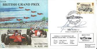 John Surtees Signed Formula One British Grand Prix Le