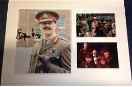 Stephen Fry signed colour photo. Mounted alongside 2