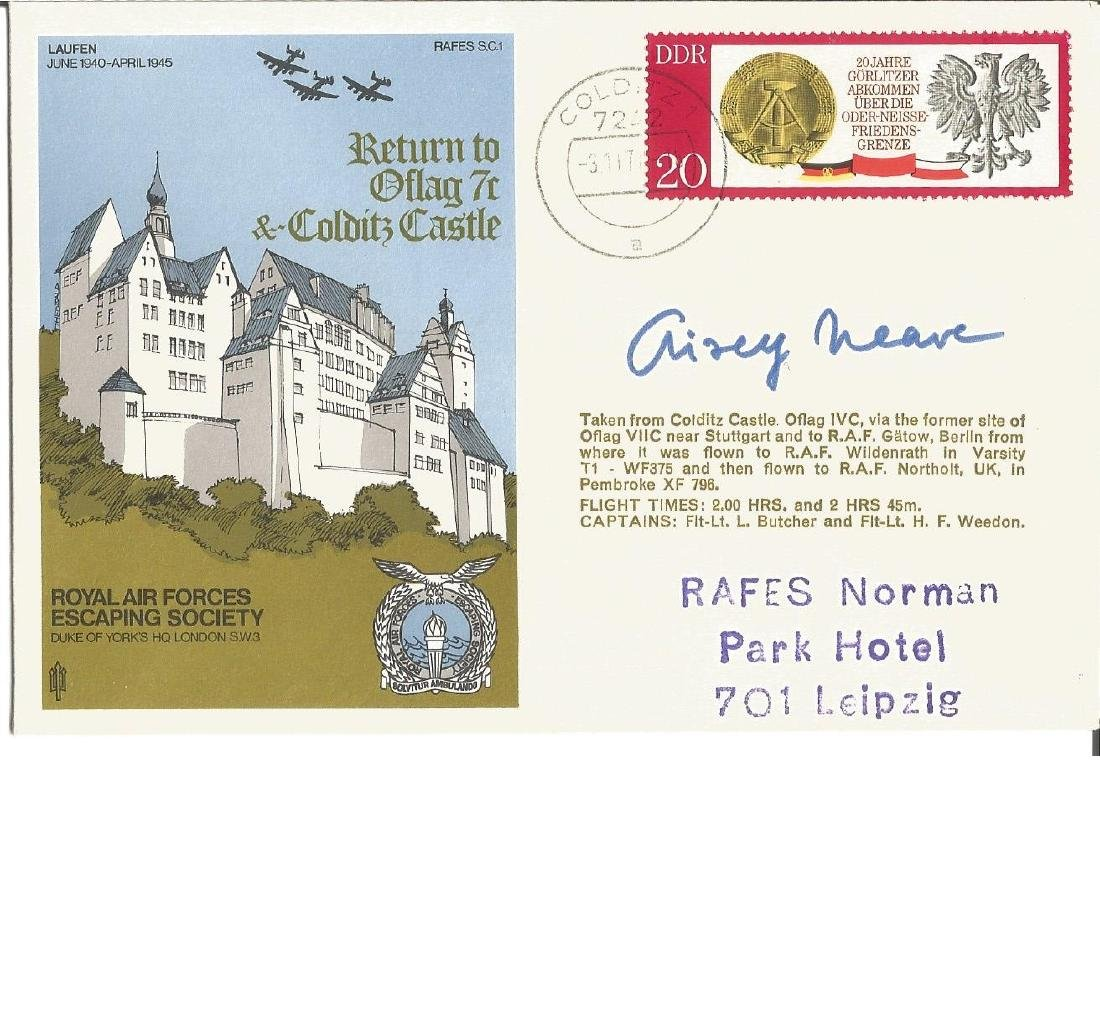 Airey Neave signed WW2 Escape from Colditz Castle RAF