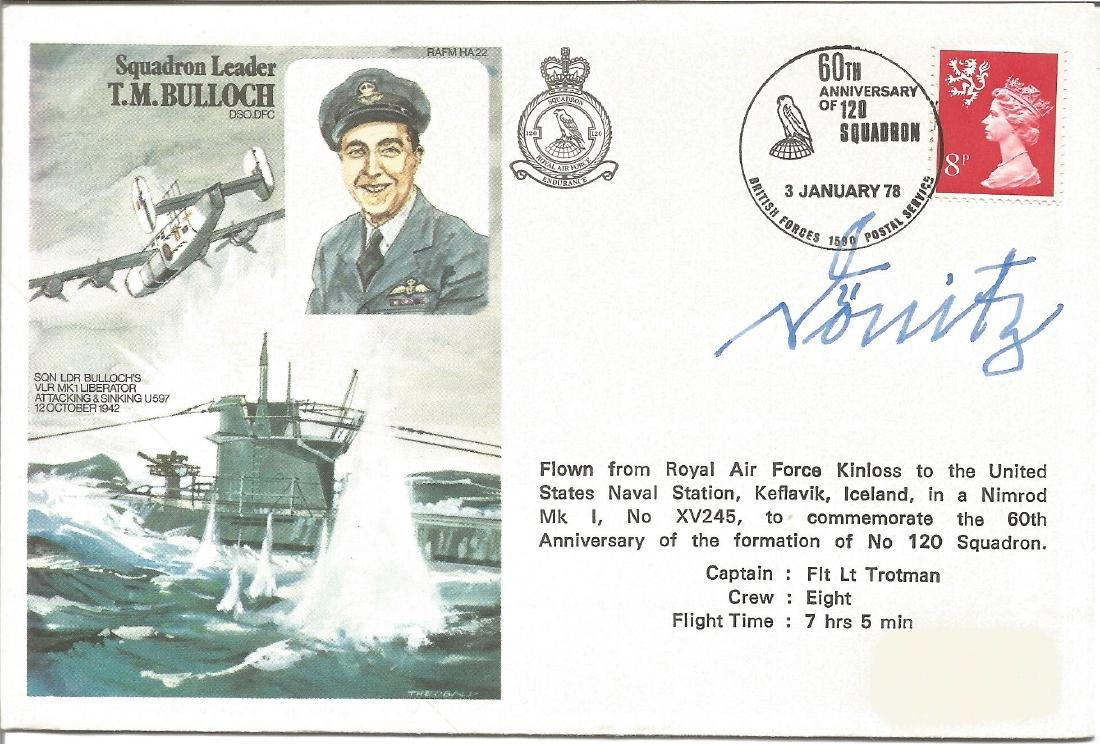 Karl Donitz head of WW2 Uboat fleet signed Sqn Ldr