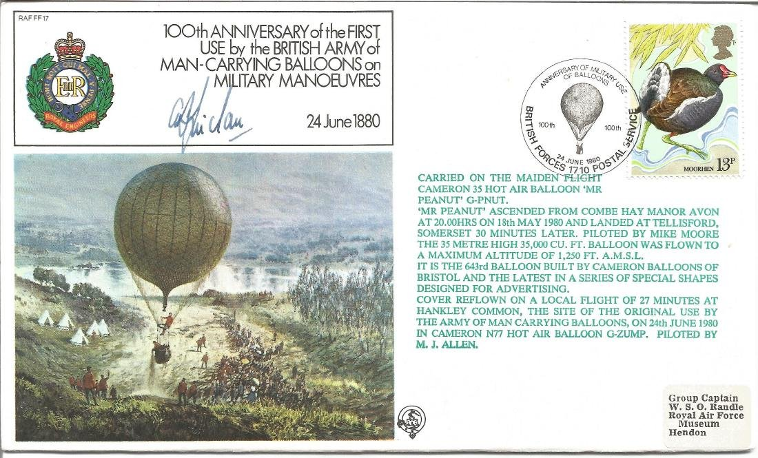 First Use by the British Army of Man-Carrying Balloons