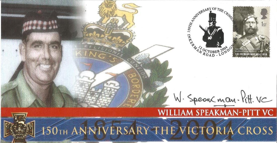 W Speakman-Pitt VC WW2 signed on his own 2004 cover