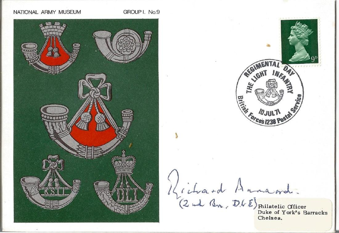 Richard Annand VC WW2 signed National Army Museum cover