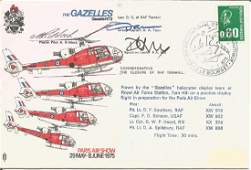 A Riddock D A Toon and R A Hill signed The Gazelles