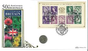 National Emblems of Britain coin cover. Benham official
