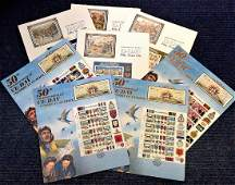 World War Two commemorative stamp sheet collection