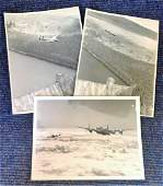 World War Two collection three 7x9 b/w photos picturing