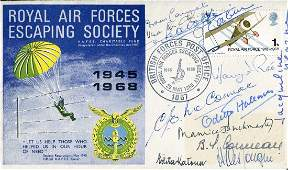 WW2 SOE & Resistance RAF Escaping Society cover signed
