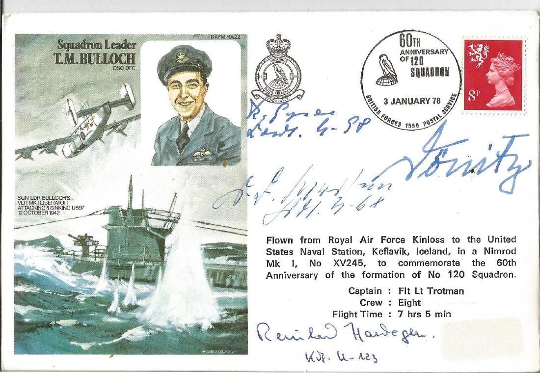 WW2 Boat signed T. M Bulloch DSO, DFC flown cover