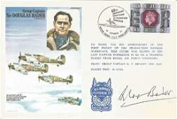 Grp Capt Douglas Bader DSO DFC signed on his own