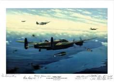 """World War Two print approx 12x16 titled """"""""Tallboy"""