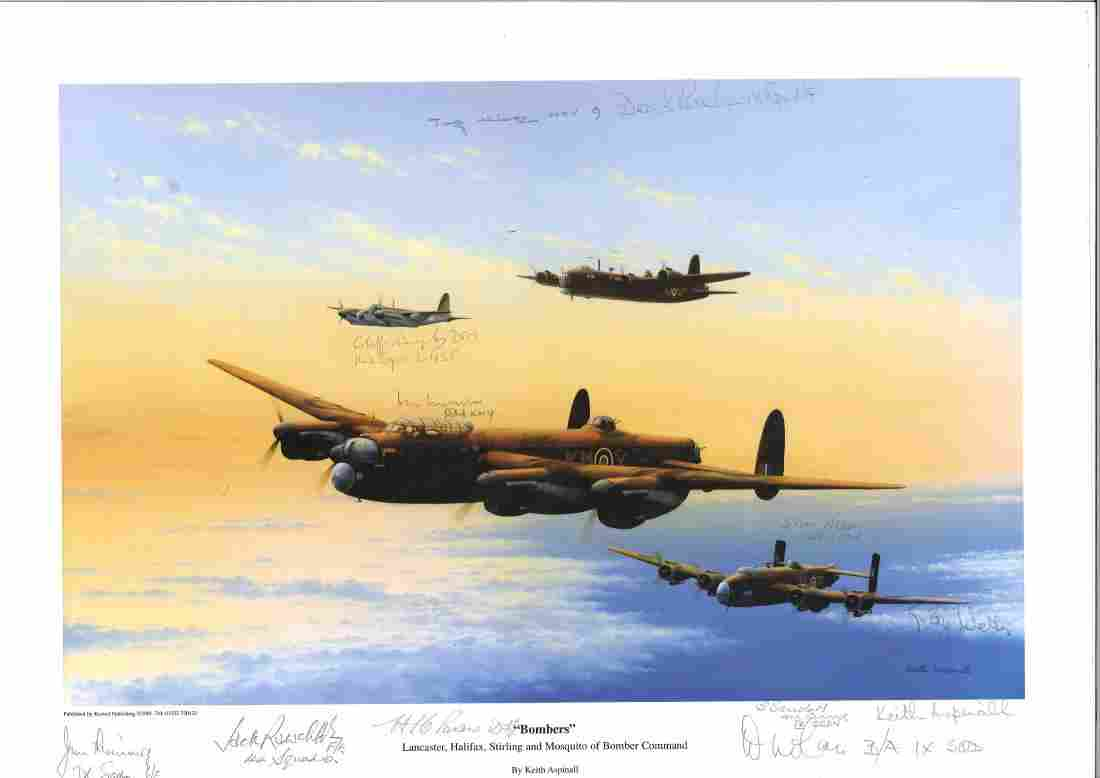 """World War Two print approx. 12x16 titled """"""""Bombers"""""""" by"""