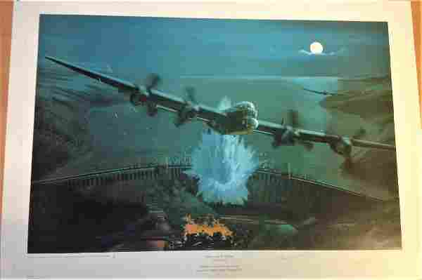 Dambuster World War Two Print titled Apres Moi le