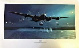 Dambusters World War Two Print 17x28 titled Dambusters
