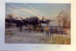 World War Two print 15x22 titled Towards the End Grand