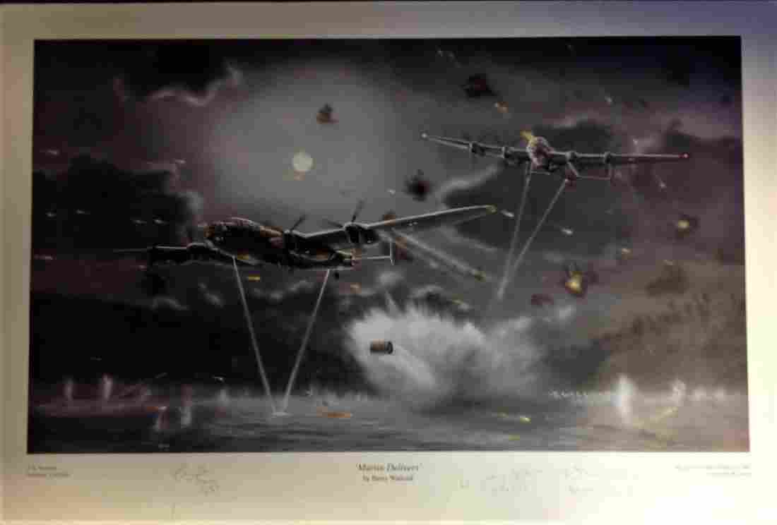 Dambuster World War Two print approx 18x26 titled