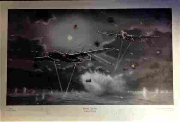 Dambuster World War Two print approx 18x26 titled